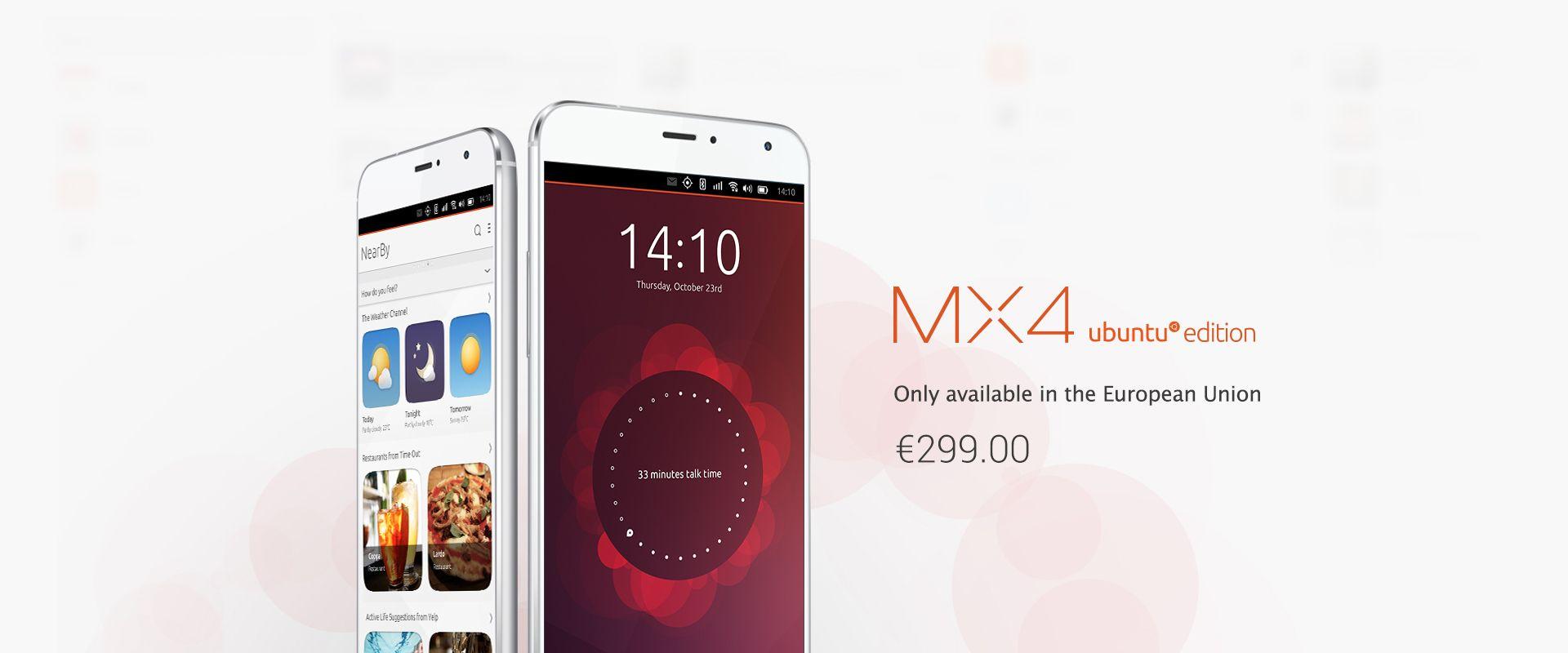 【売り切れ】中古のMeizu MX4 Ubuntu Editionが€ 211.00でebayにて販売中