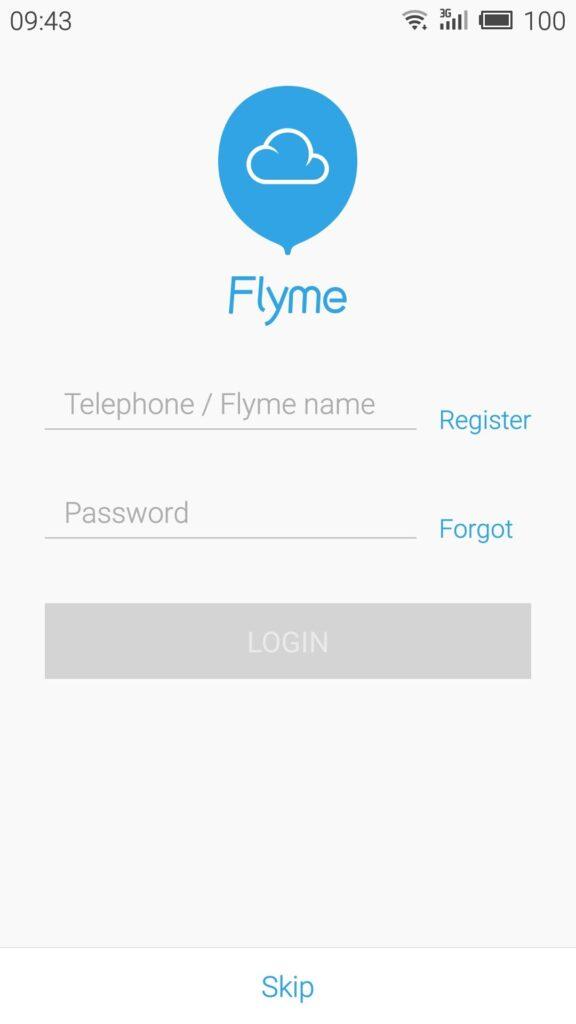 FlymeアカウントはRoot権限の解放に必要なので、取得しておこう。