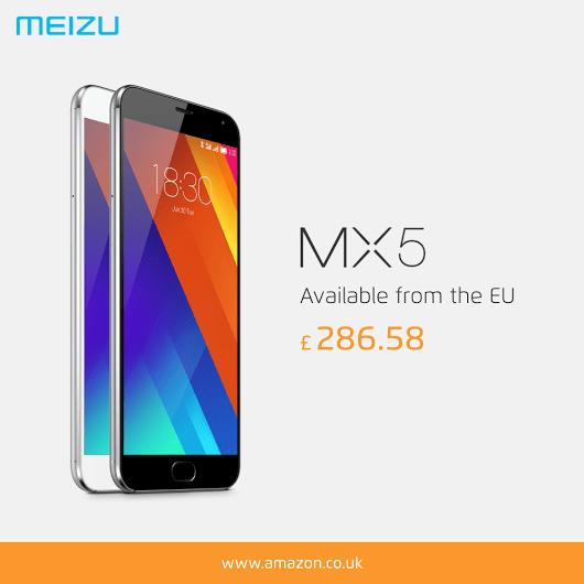 Meizu MX5がAmazon.co.ukで販売開始