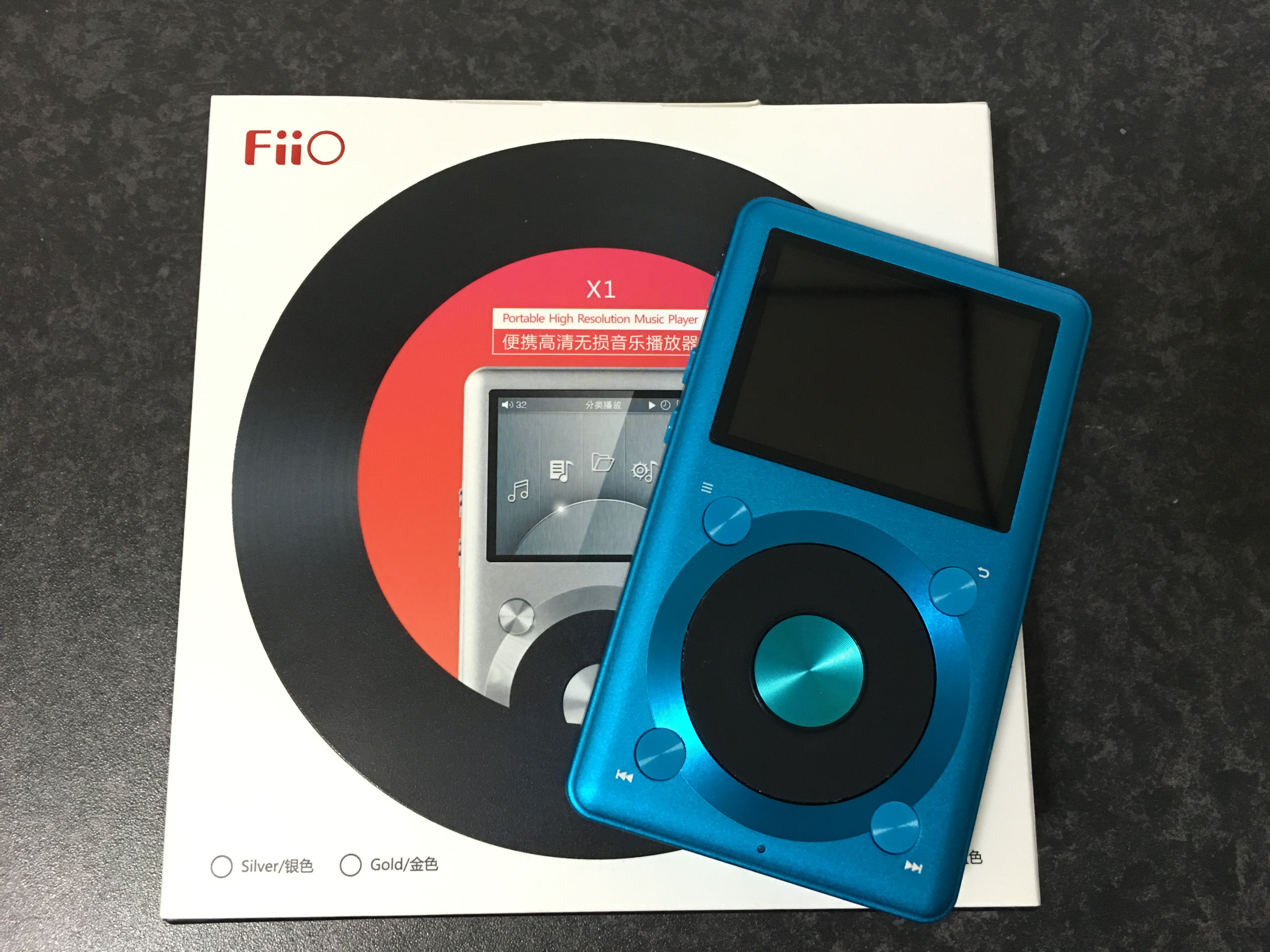 ハイレゾ対応ミュージックプレーヤーFiiO X1のブルーを購入。取り敢えず開封。