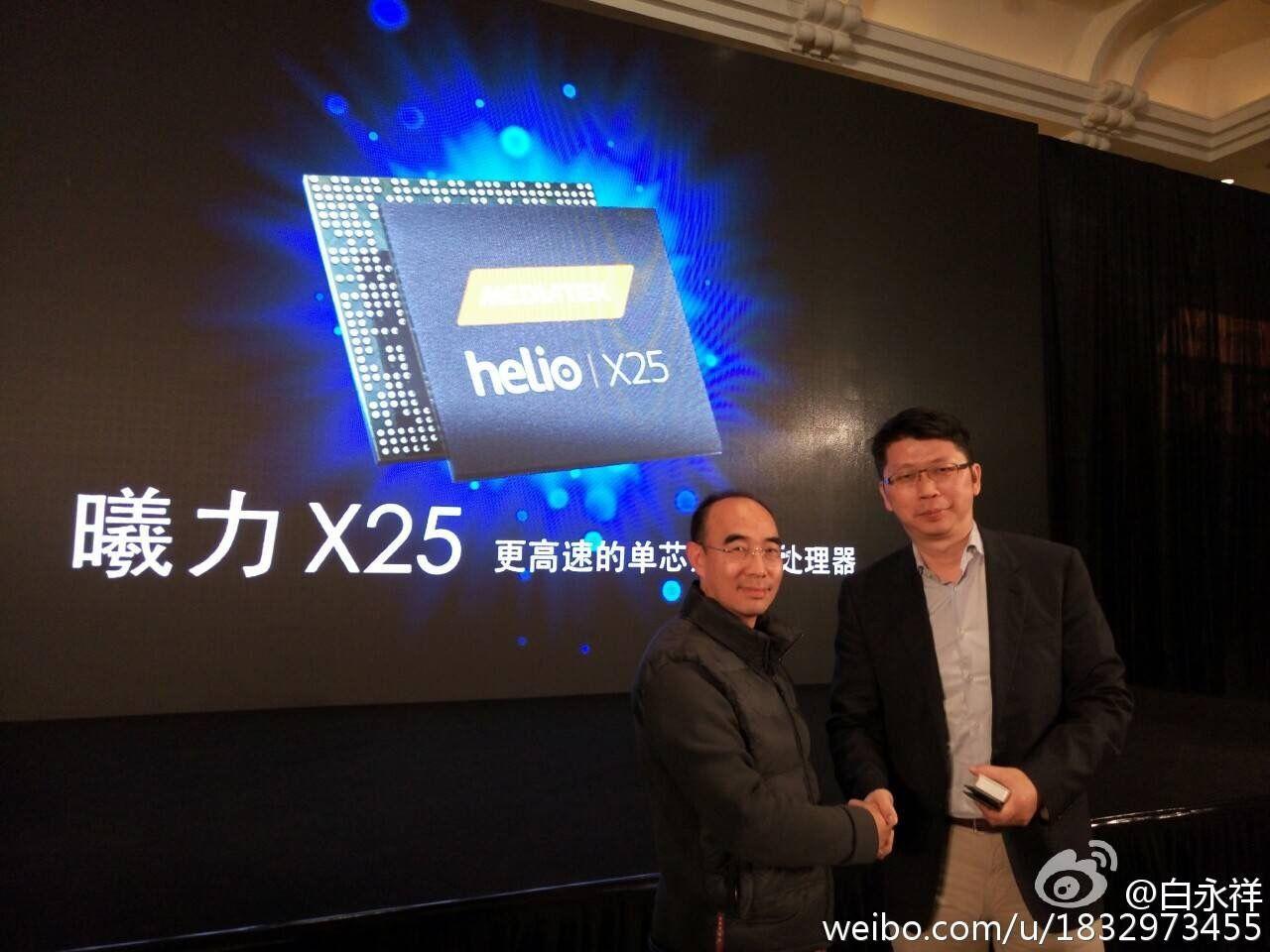 MediaTekのHelio X20の発表会にMeizu CEOの 白永祥 氏 が出席し、Meizu Pro 6にHelio X25を搭載することを発表