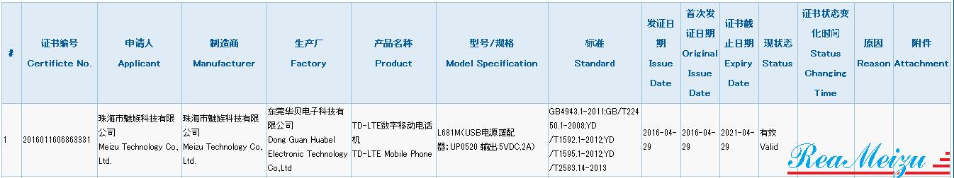 未発表スマートフォン、L681Mが中国質量認証センターの認証を取得