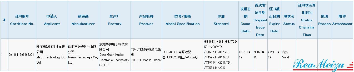 未発表スマートフォン、L681Qが中国質量認証センターの認証を取得