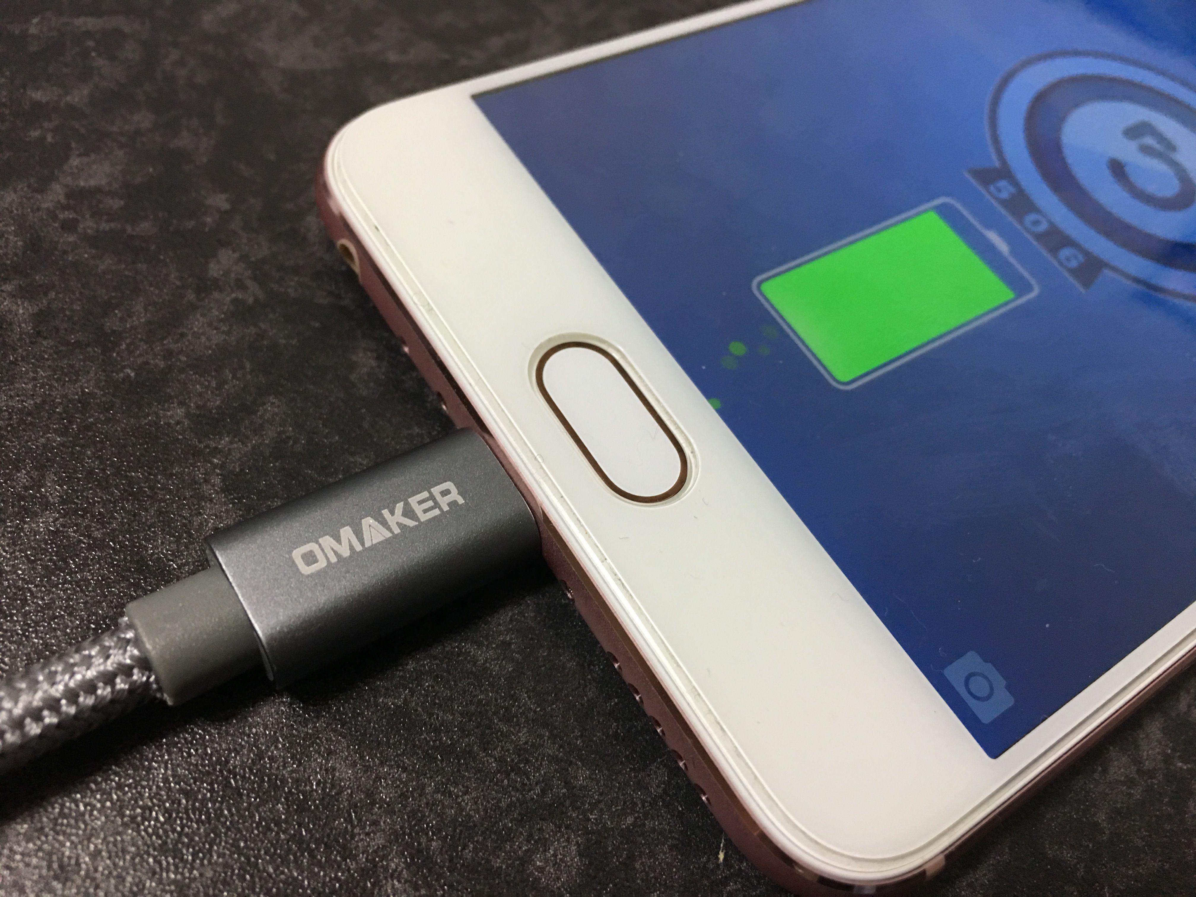 OmakerのUSB type-c 充電ケーブルのレビュー!非常に頑丈な作りで、無理をしても安心