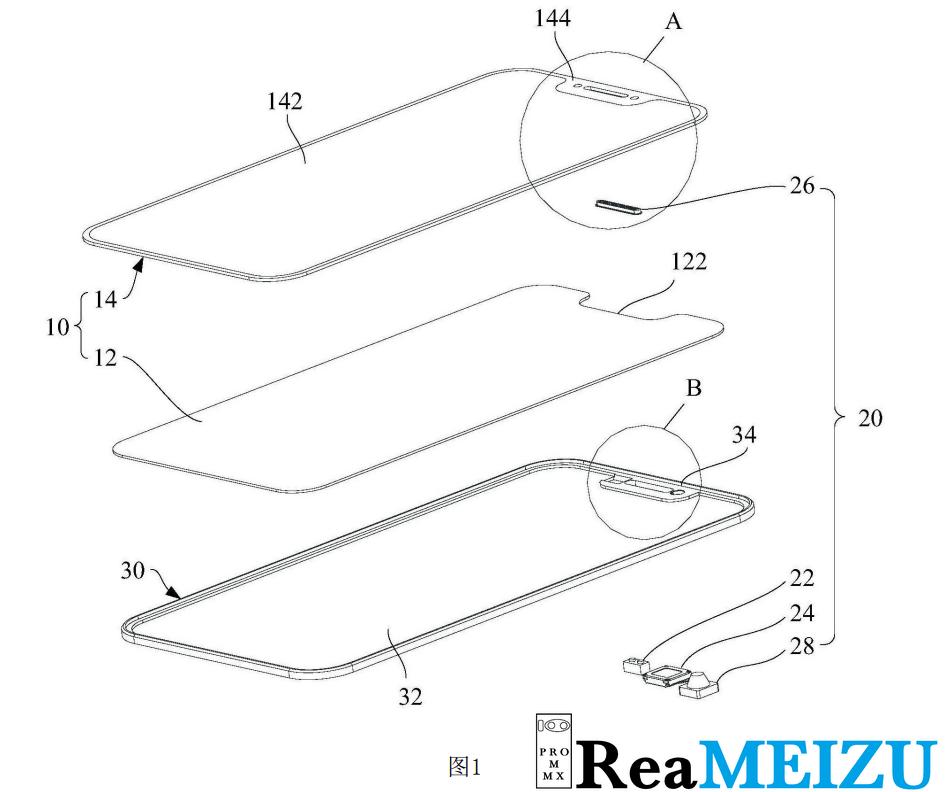 MEIZUがノッチデザインに関する特許を取得