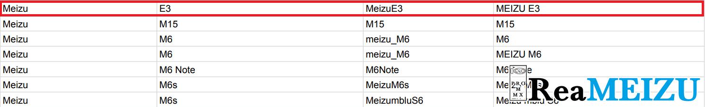 Meizu E3(魅藍E3)がGoogle Playサポート端末リストに再度追加