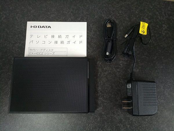 I-O DATAの外付けHDD EX-HD3CZを購入