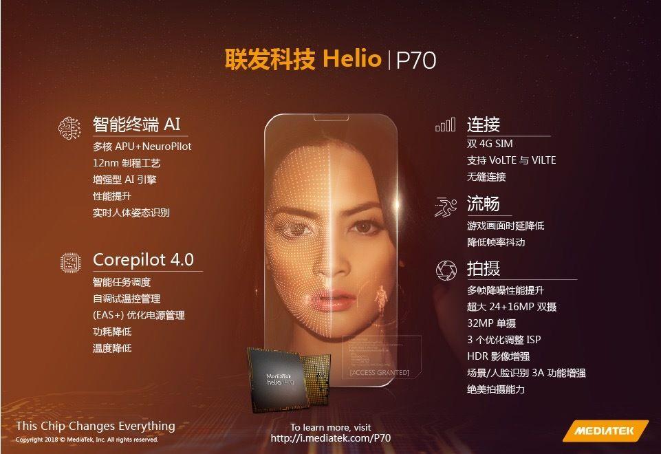 MediaTek Helio P70を発表。Helio P60からCPUとGPUのクロック数が上昇