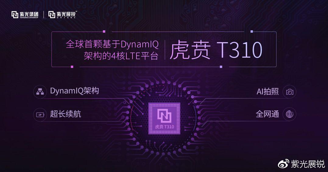 UnisocがHuben T310を発表、ARM Cortex-A75やDynamIQを採用した高性能なクアッドコアプロセッサー