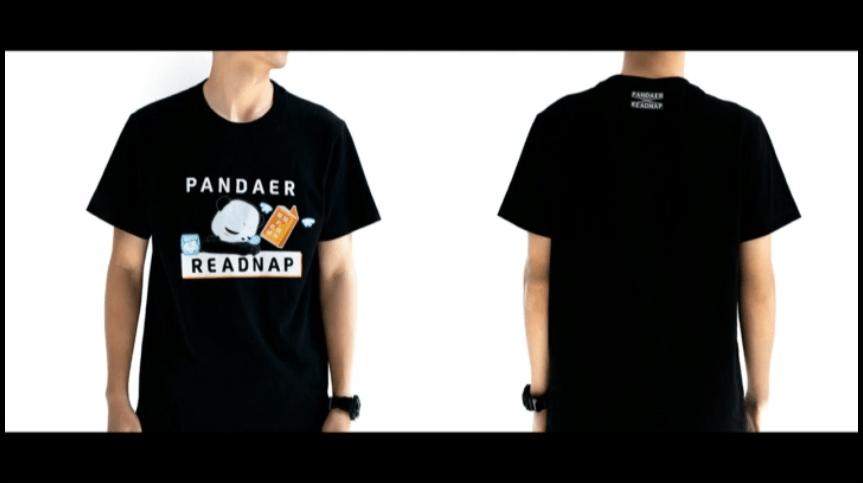 Pandaer readnap T-Shirtを発表、100%綿のマスコットキャラクターが書かれたTシャツ