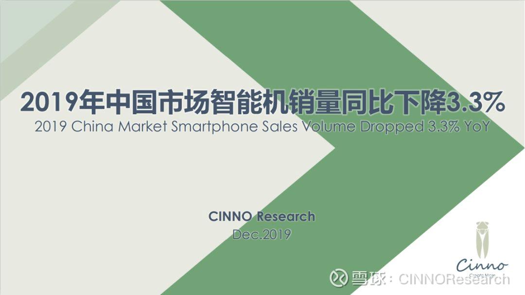 CINNO Researchが2019年の中国市場における出荷台数シェアを公開
