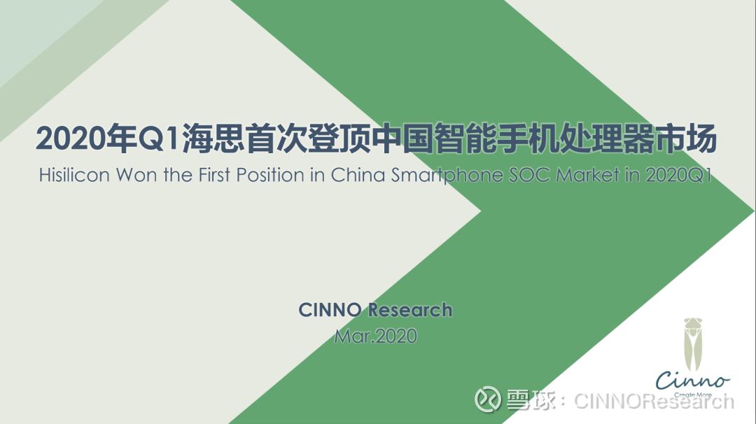 中国市場における2020年Q1のSoC出荷シェアが公開、Huawei完全子会社HiSilicon強し