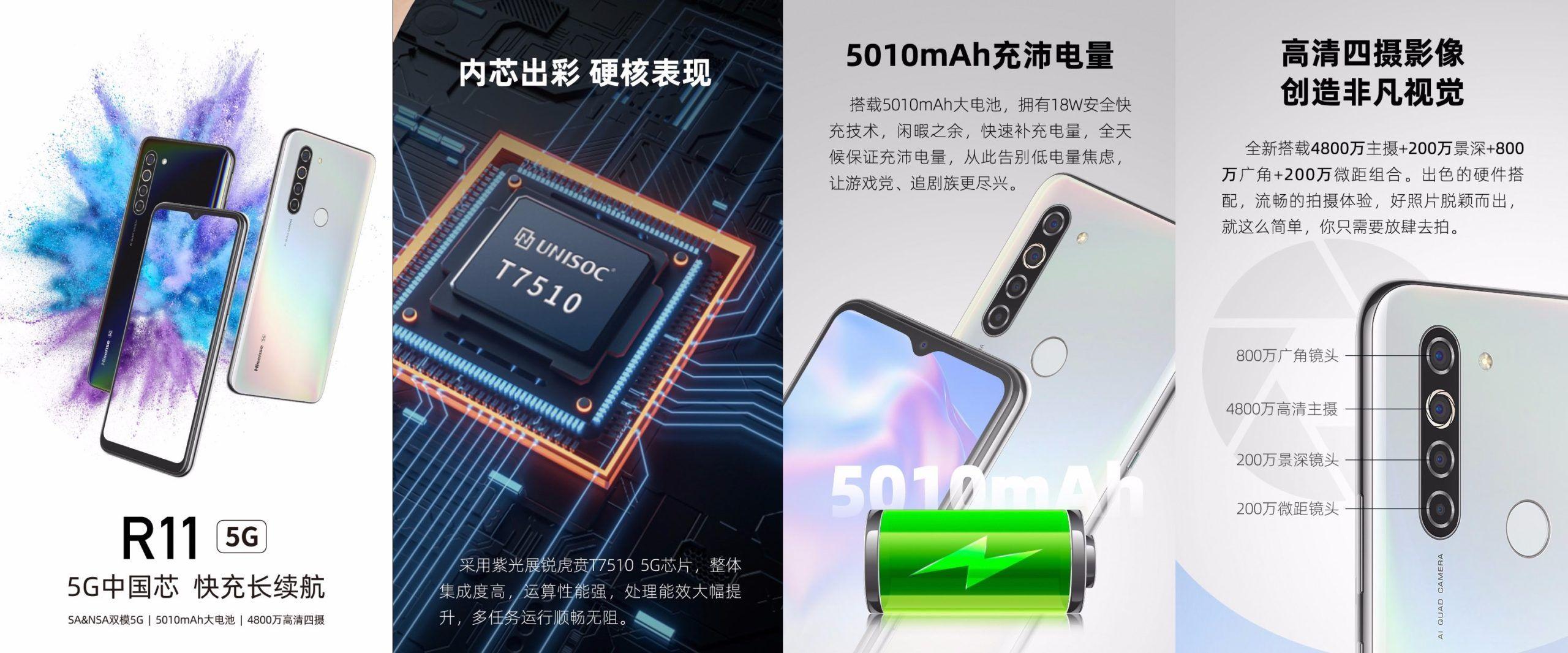 Unisoc T7510を搭載したHisense R11 5Gを発表か、スペックはHisense F50 5Gと全て同じ