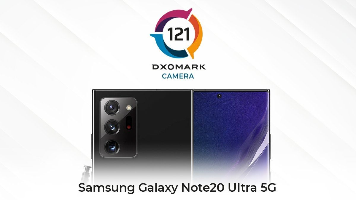 Samsung Galaxy Note20 Ultra 5GのDxOMarkスコアは121点、Galaxy S20 Ultraは122点