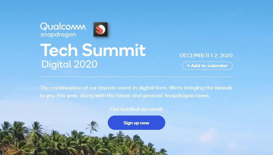 Qualcomm Snapdragon Tech Summit Digital 2020を2020年12月1日からオンラインで開催、Snapdragon 875 5Gの登場に期待