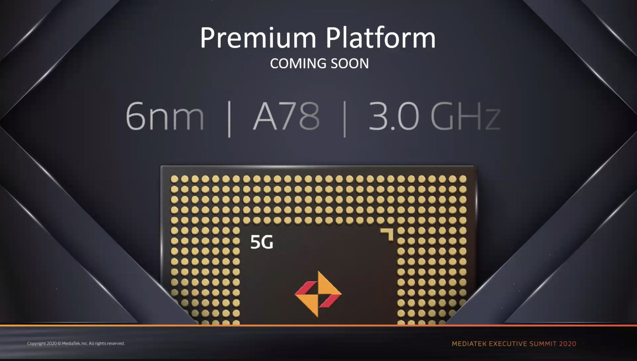 MediaTekが6nm EUV製造プロセス+A78(3.0GHz)を採用した製品の発表を予告