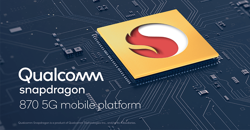 Qualcomm Snapdragon 870 5G Mobile Platformを発表