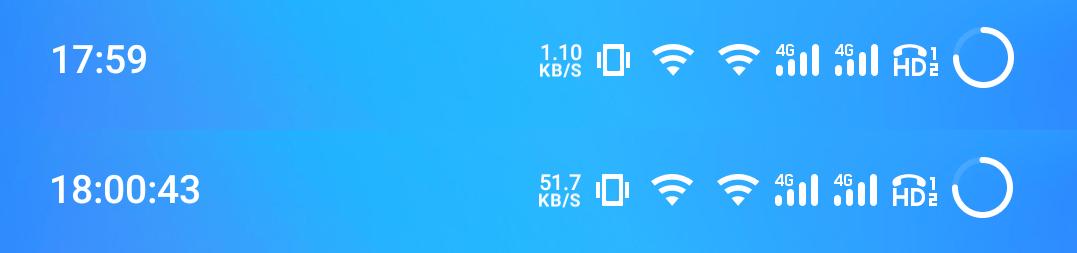 Flyme OS搭載MEIZU製品のステータスバーの時計に秒数を表示させる方法