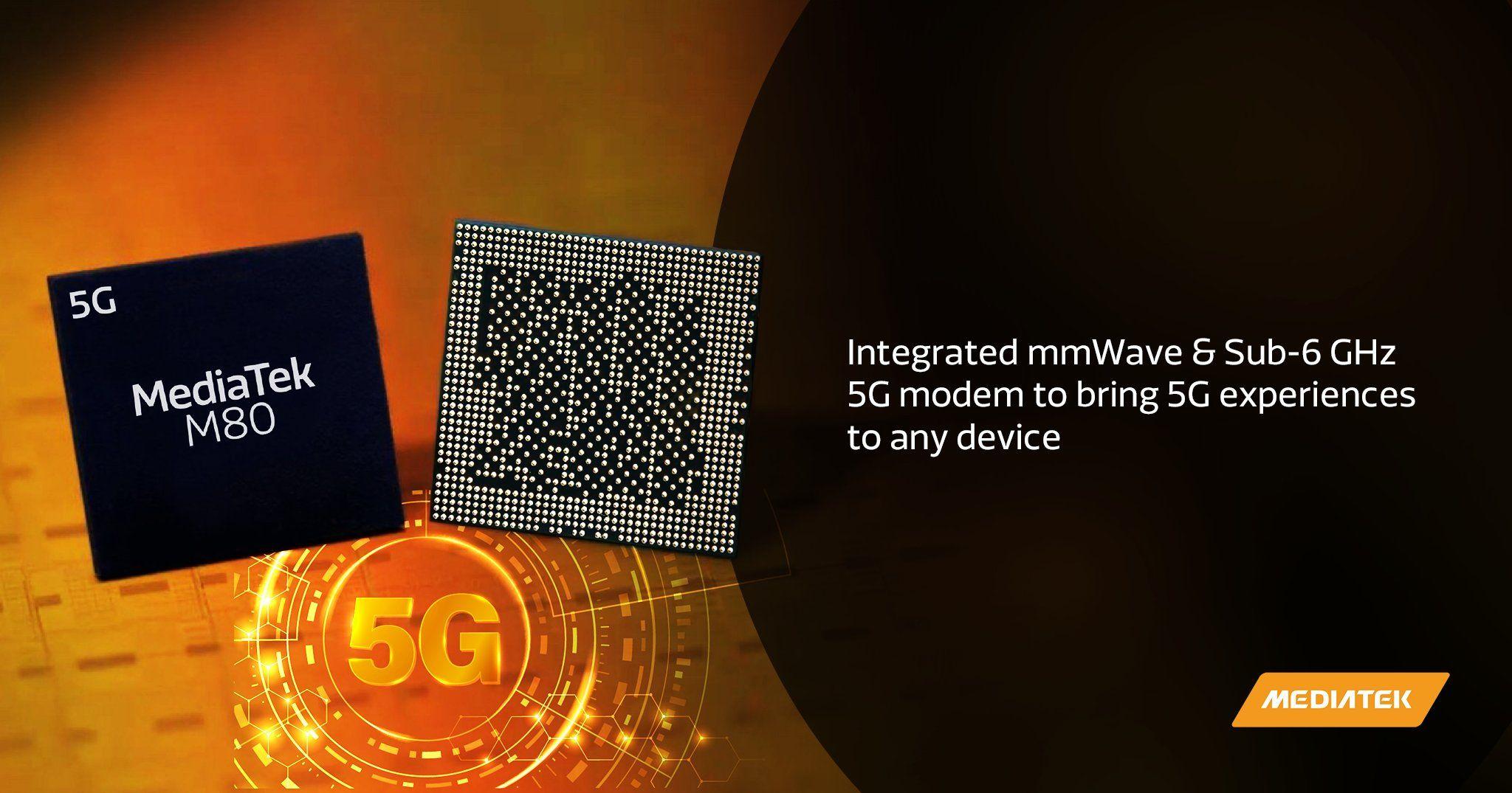 MediaTek M80を発表、Sub-6GHz+mmWave対応5Gモデム