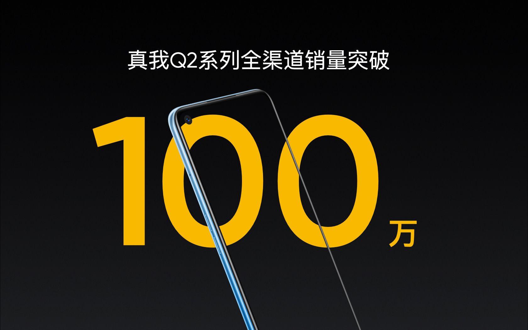 realmeはrealme Q2シリーズの販売台数が100万台を超えたと発表